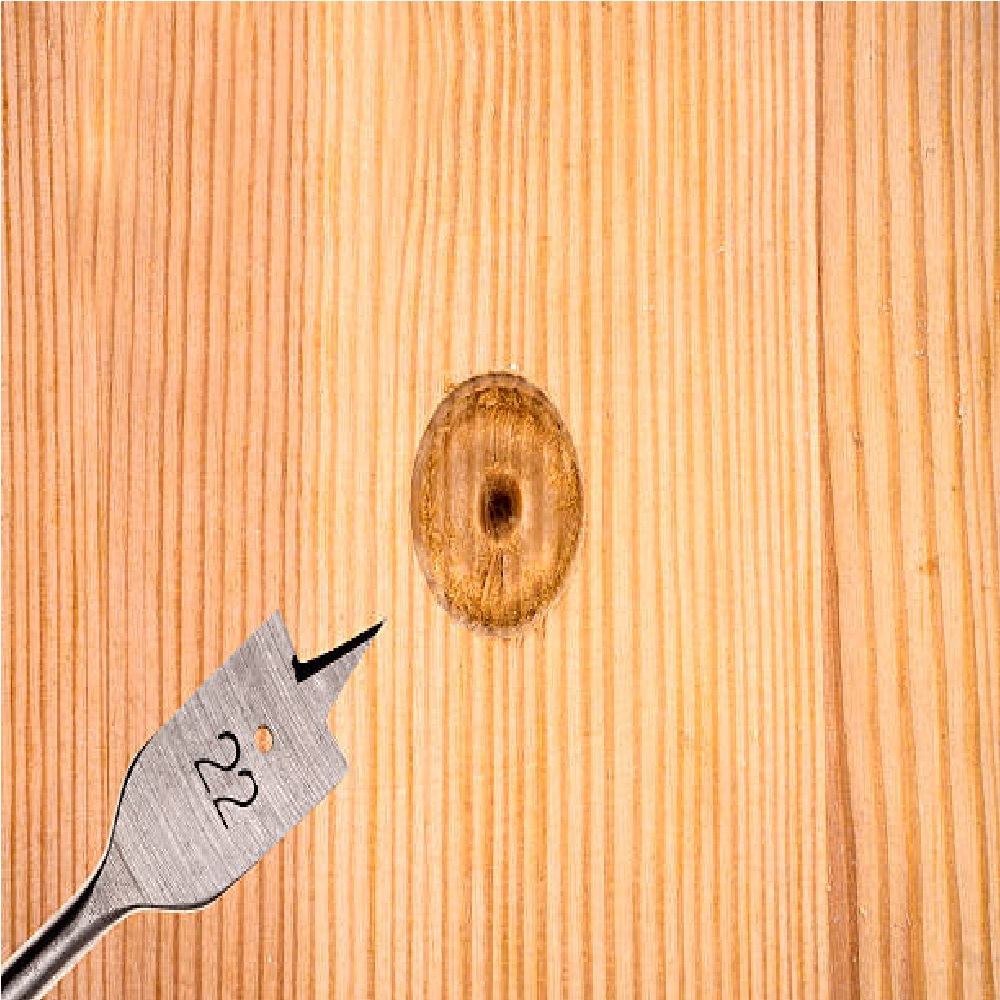 Jogo De Brocas Chata Para Madeira Com 6 Peças de 10mm 12mm 16mm 18mm 20mm e 25 mm x 150mm