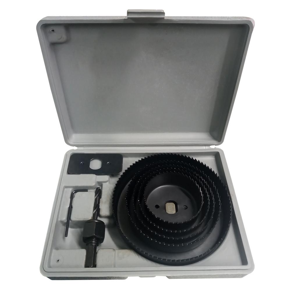 Jogo Serra Copo Para Madeira Gesso e PVC Com 08 Peças 64mm A 127mm + Estojo Profissional  - EPM Acessórios