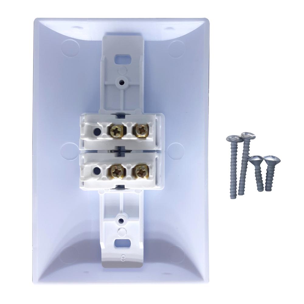 Kit 5 Tomadas Simples 2p+t 10A  + Kit 5 Interruptores Simples 2 Teclas Com Espelho Branco Bivolt 127V e 250V  - EPM Acessórios