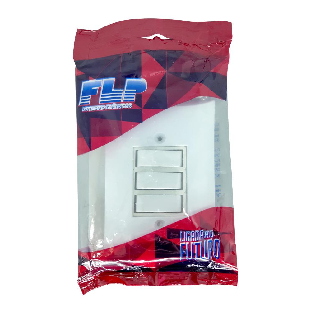 Kit 5 Tomadas Simples 2p+t 10A  + Kit 5 Interruptores Simples 3 Teclas Com Espelho Branco Bivolt 127V e 250V