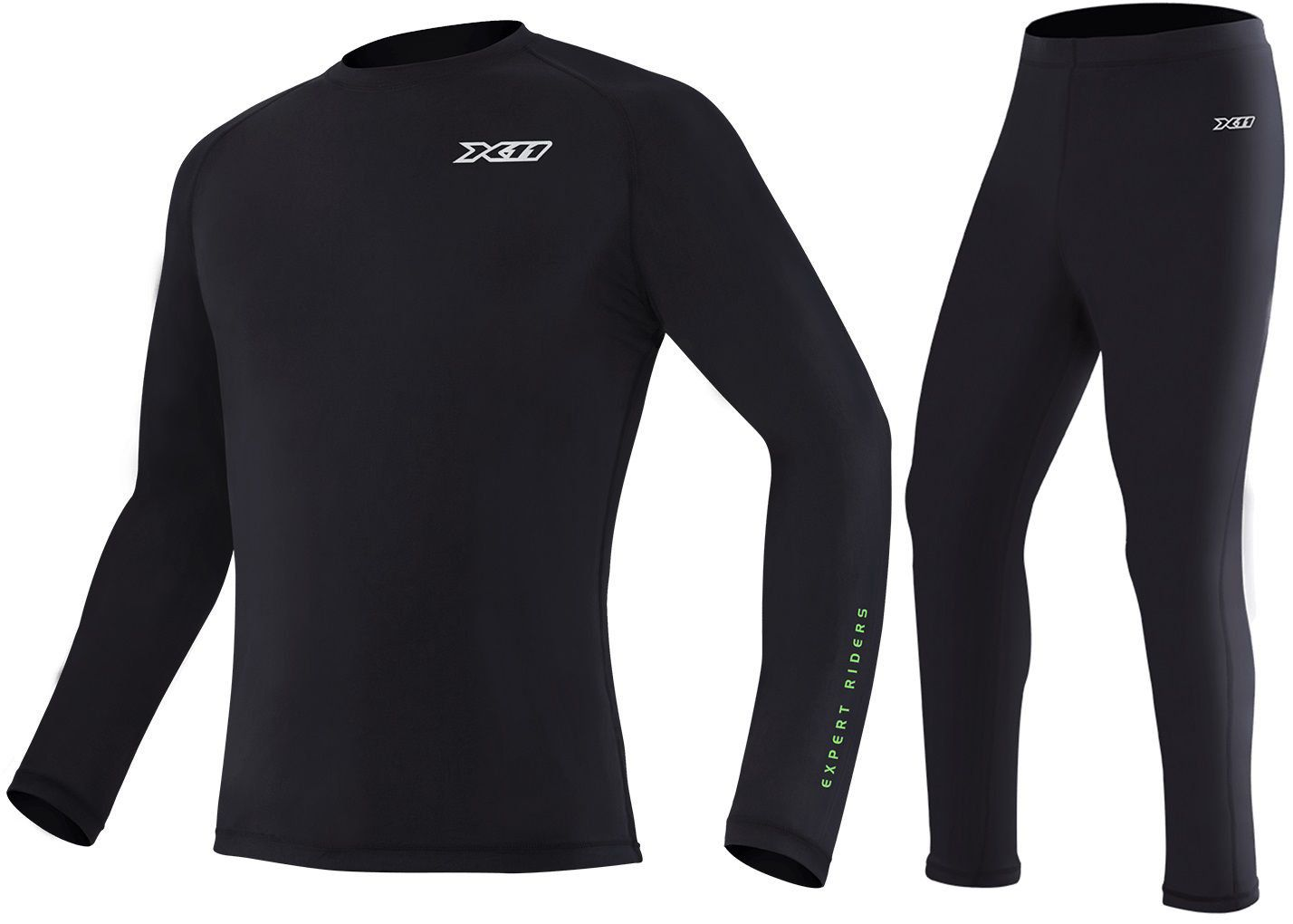 Kit Camiseta + Calça Climate X11 Preta Segunda Pele Térmica Motoqueiro Motociclista Ciclista
