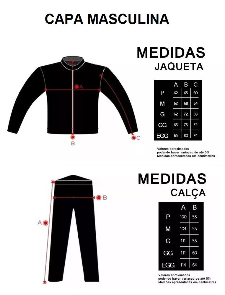 Kit Capa de Chuva Delta Flex Com Capuz + Polaina Bota Delta Pvc Impermeável