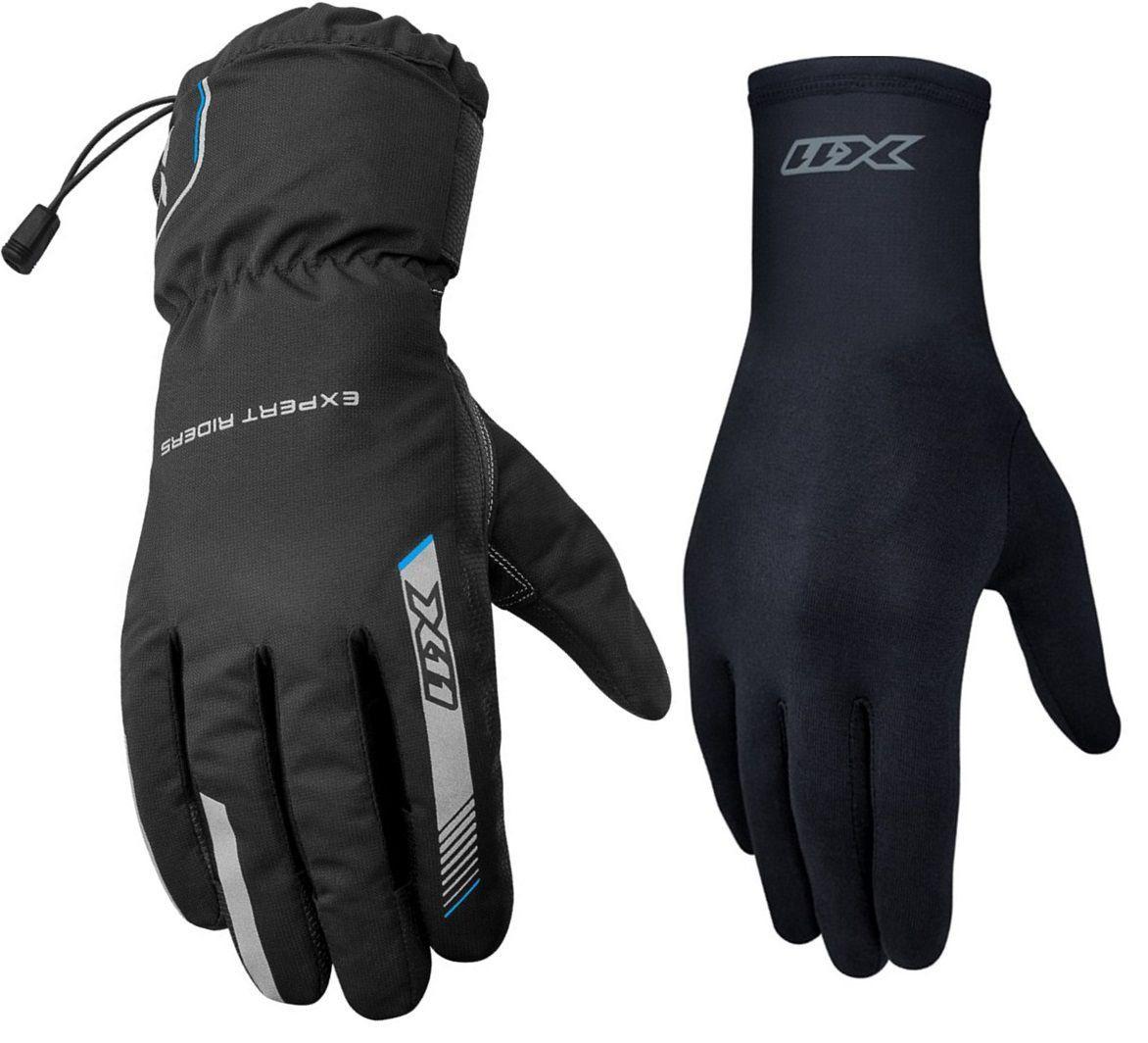 Kit Luva X11 Proof Impermeável Motociclista + Luva X11 Thermic Segunda Pele Motoqueiro