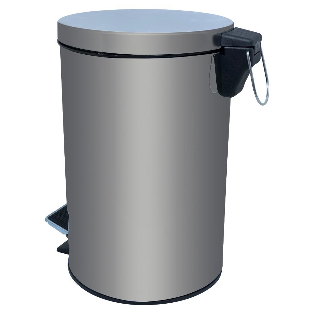 Lixeira em Aço Inox Com Balde Removível Com Tampa e Pedal Capacidade 5 Litros