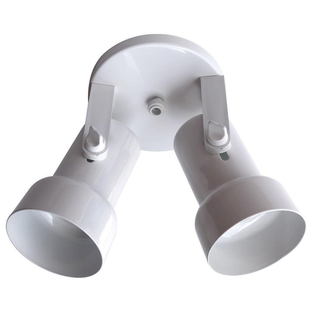 Luminária de Teto Spot Caneca Para Duas Lâmpadas Branco E27 40W 250V Luminária De Sobrepor OPL
