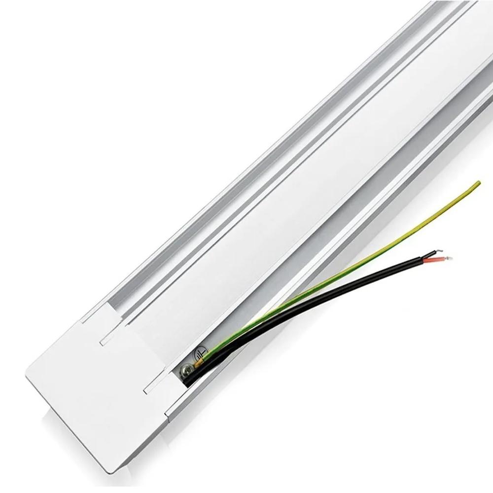 Luminária Tubular De Sobrepor Led Slim 20w 60cm Branco Frio