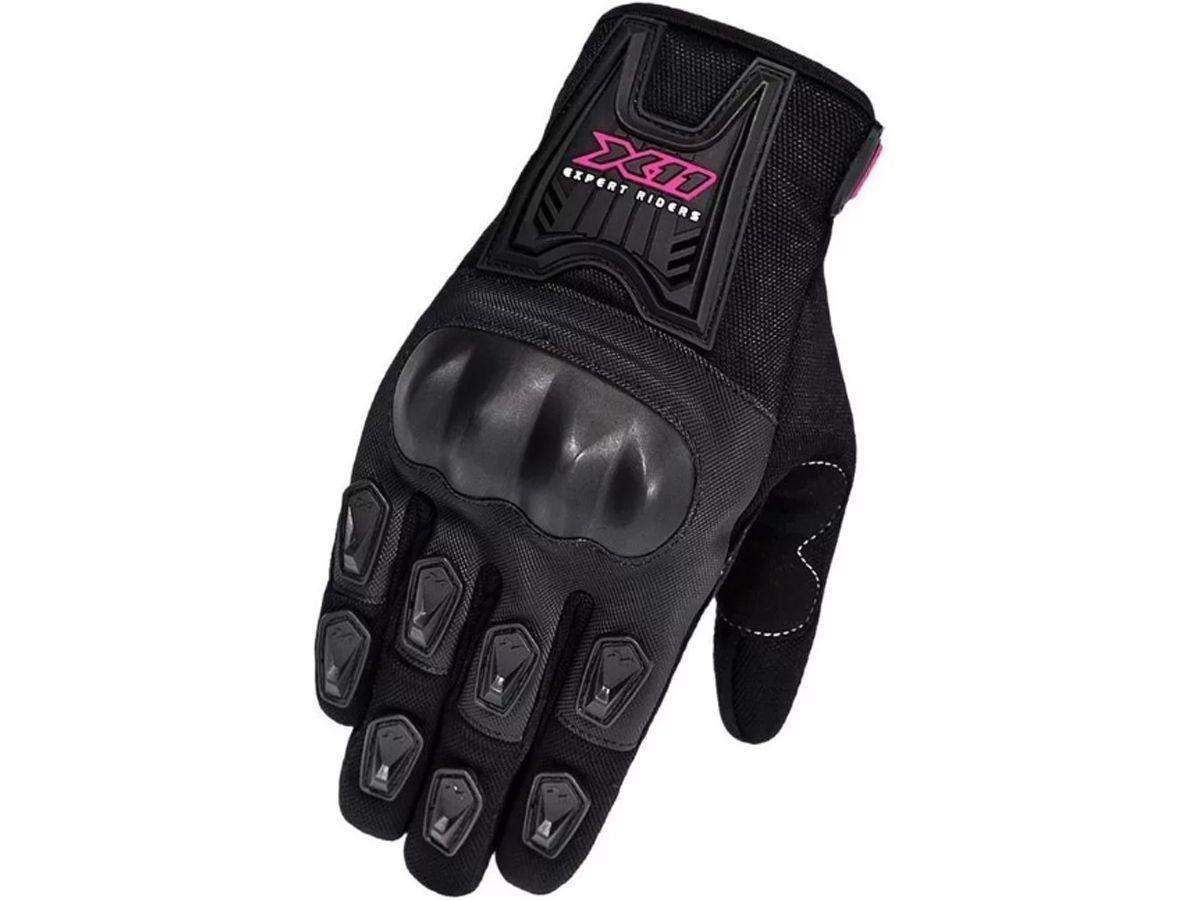 Luva X11 Blackout Feminina Com Proteção Motociclista Ciclista Bike  - EPM Acessórios