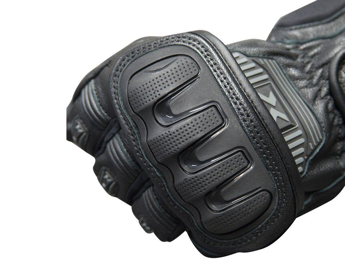 Luva X11 Impact 2 Cano Curto Couro Com Proteção Motoqueiro Motociclista