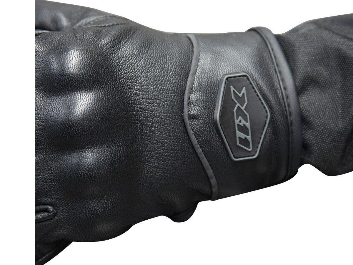 Luva X11 Route 2 Cano Curto em Couro Com Proteção + Balaclava X11 Térmica Touca Ninja