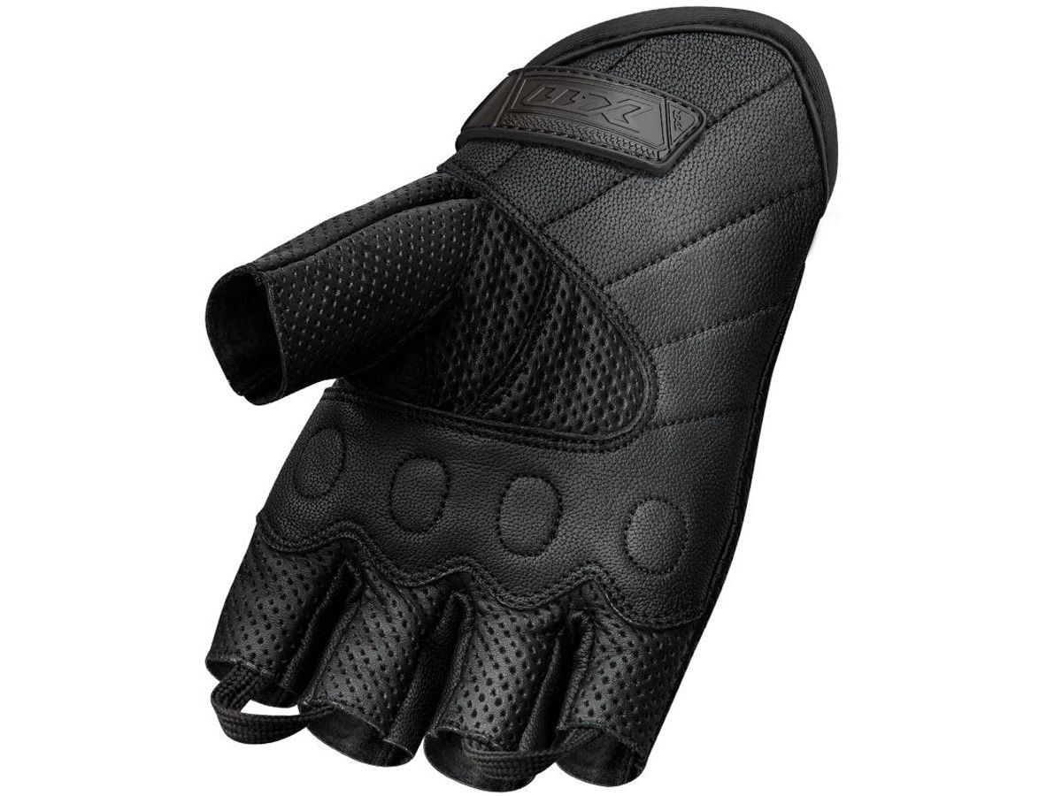 Luva X11 Route 2 Meio Dedo em Couro Com Proteção + Balaclava X11 Touca Ninja Térmica
