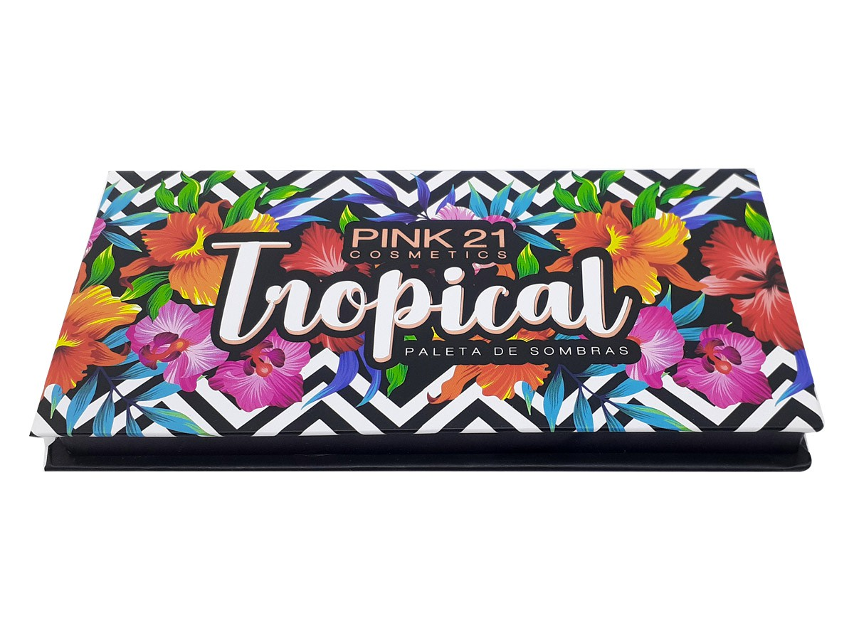 Paleta de Sombras Tropical Com 12 Cores Make Matte e com brilho Lindas Cores CS2392