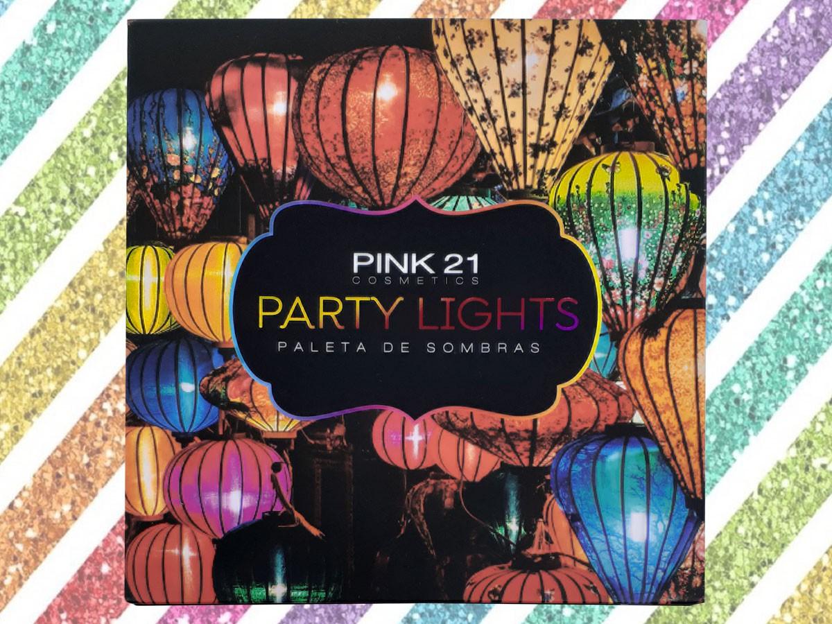 Paleta de Sombras Party Lights Com 20 Cores Make Matte e Cintilante Com Lindas Cores CS2450