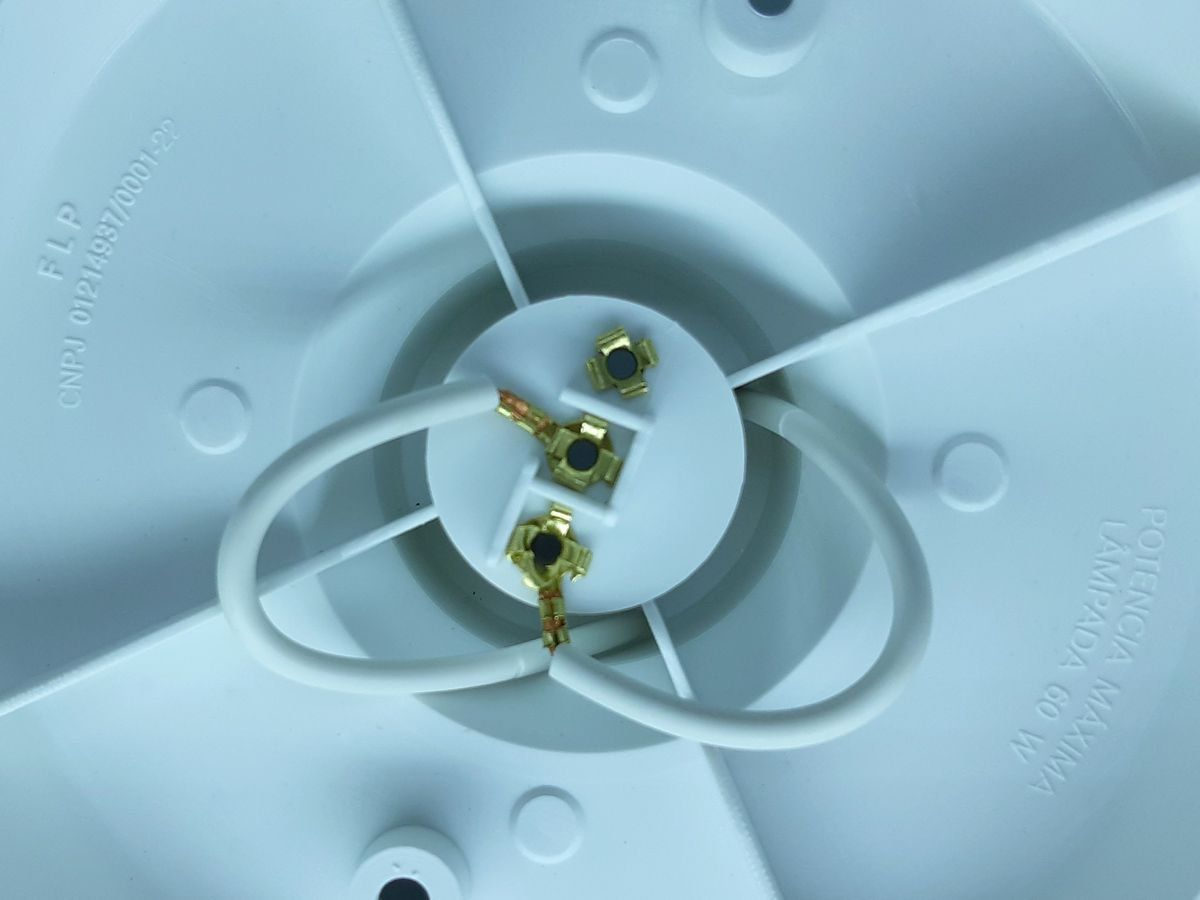 Plafon Plafoniers Bocal Soquete para Lampada E27 Bulbo Com Inmetro
