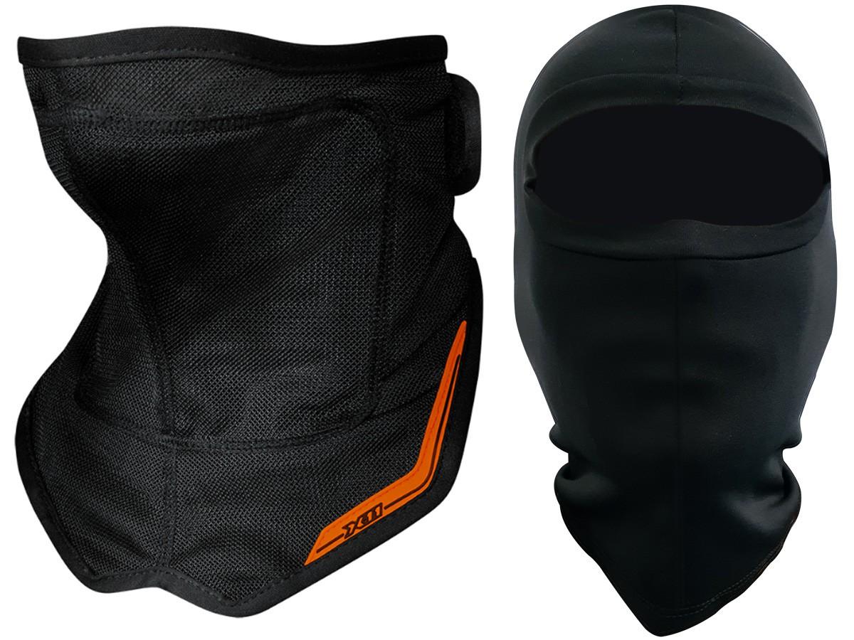 Protetor de Pescoço Ventilado Anti Linha Com Cerol Pescoceira Motociclista + Balaclava