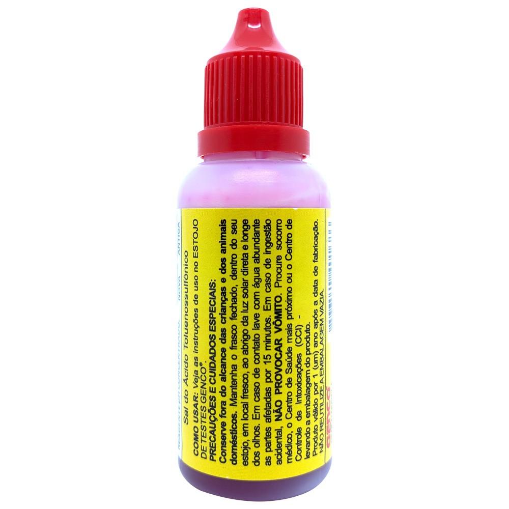 Reagente De Reposição PH Concentrado Para Piscinas Frasco 23ml Genco