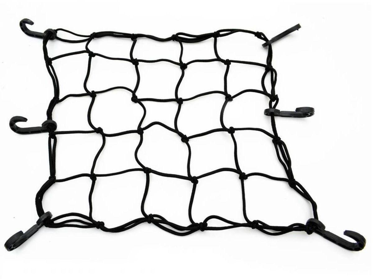 Rede Elástica Aranha Bagageiro Bauleto Moto Capacete Preta   - EPM Acessórios