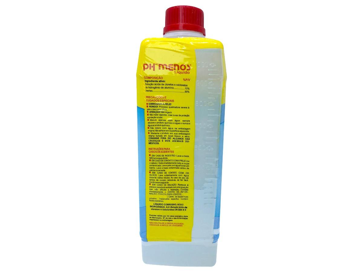 Redutor de Ph Para Piscinas Líquido Genco 1 Litro Ph- Menos Reduz Ajusta  - EPM Acessórios