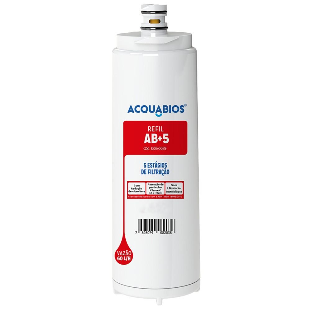 Refil Para Filtro Purificador de Água Compatível Com Filtros IBBL AB+5 Acquabios