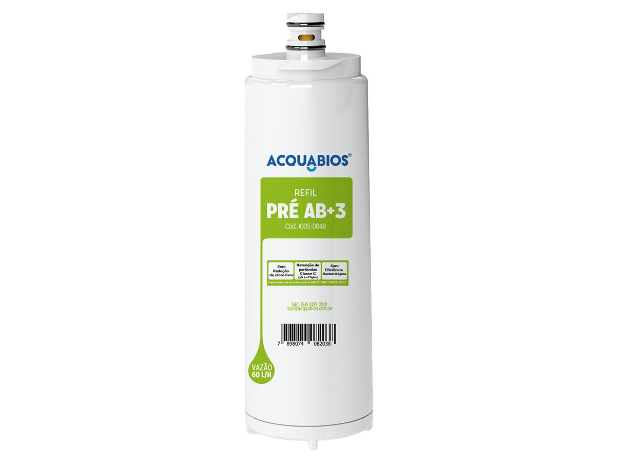 Refil Para Filtro Purificador de Água Compatível Com Filtros IBBL Pré AB+3 Acquabios