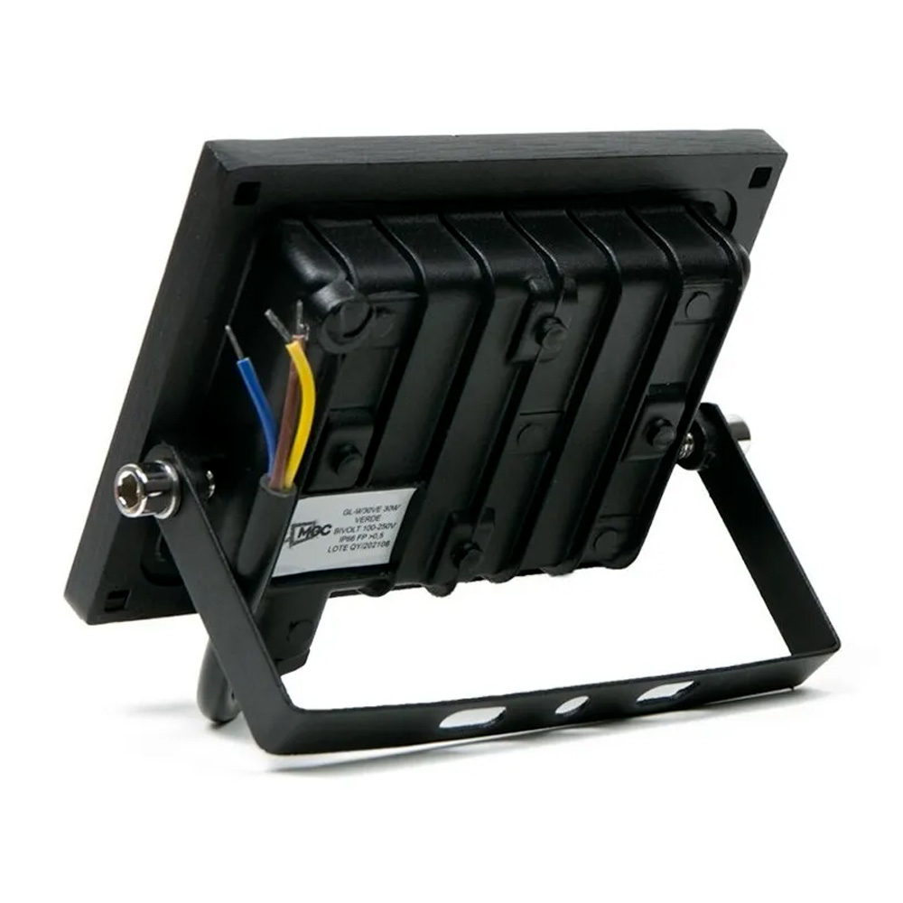 Refletor Led Holofote 30w Slim Branco Frio Bivolt Resistente a Água Ip66