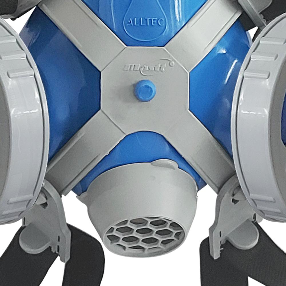 Máscara Respirador Semi Facial Mastt Alltec 2402 P2 Filtro de Duas Vias Pintura Poeira Gases Nevoas Vapores