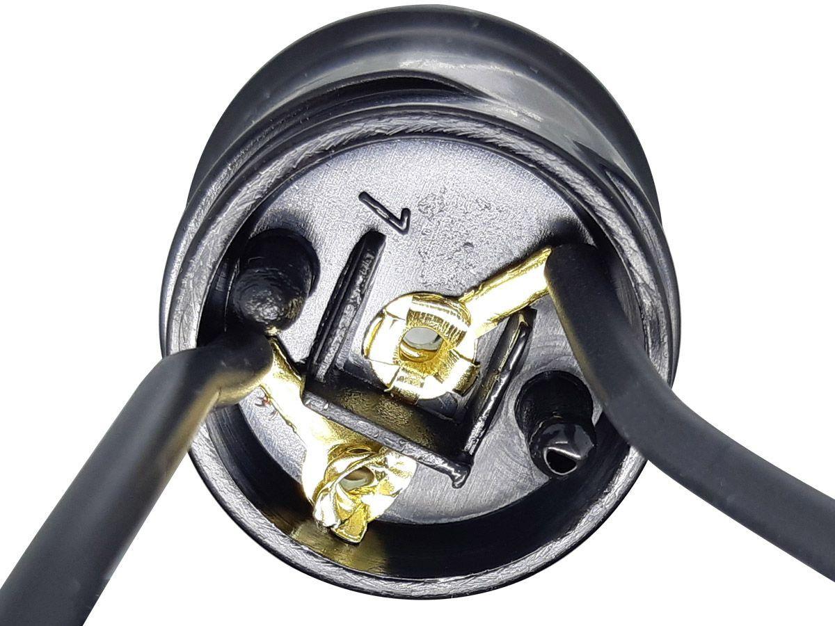 Soquete Com Rabicho Para Lâmpada Bulbo E27 250V 2A Preto  - EPM Acessórios