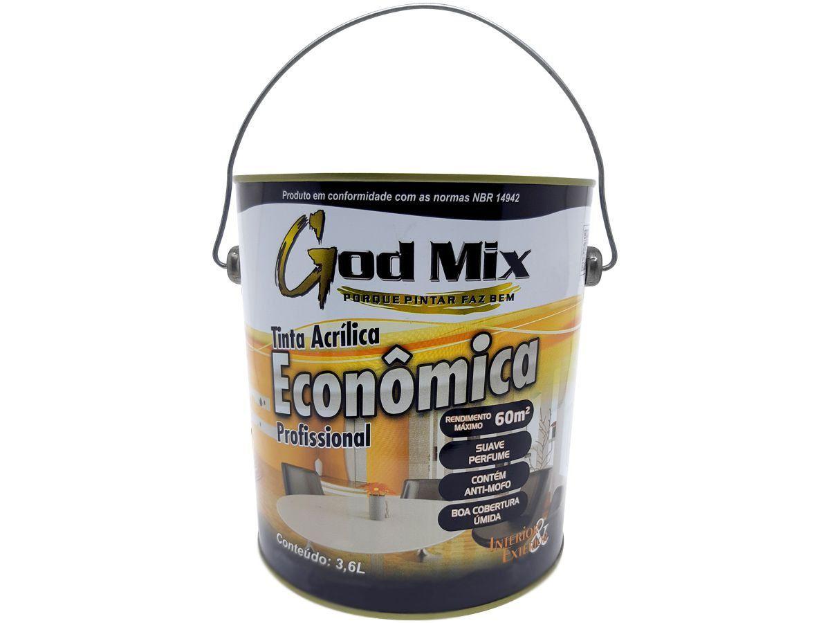 Tinta Acrílica Profissional Econômica God Mix 3,6 Litros Cores Diversas
