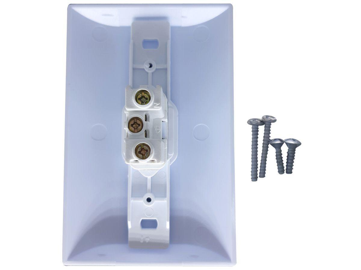 Tomada Simples 2p+t 10A Com Placa Espelho Branco Com Inmetro Bivolt 127V e 250V