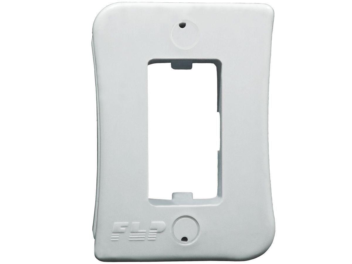 Tomada Simples 2p+t 20A Sobrepor Externo Com Placa Espelho Branco Linha Viena Bivolt 127v e 250v