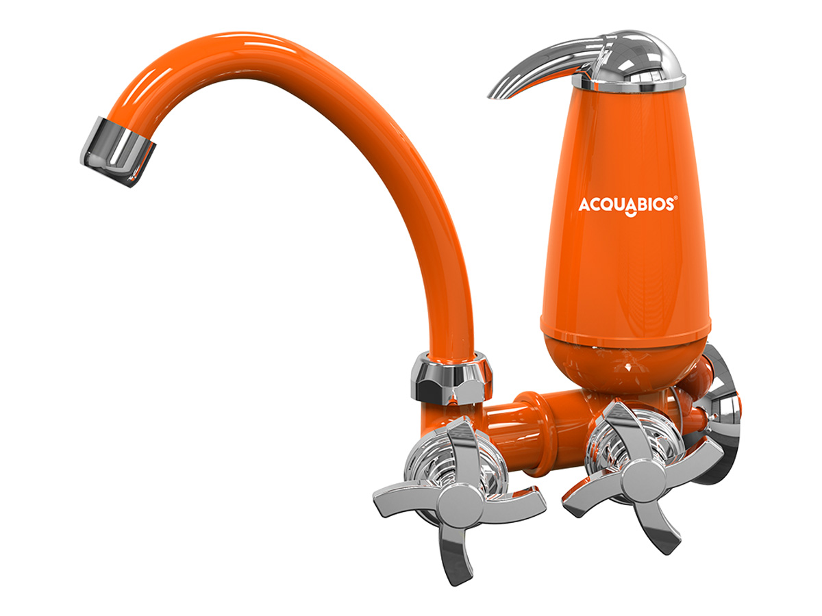Torneira de Cozinha Com Filtro de Parede Bica Móvel E05 Quadriseta Acquabios