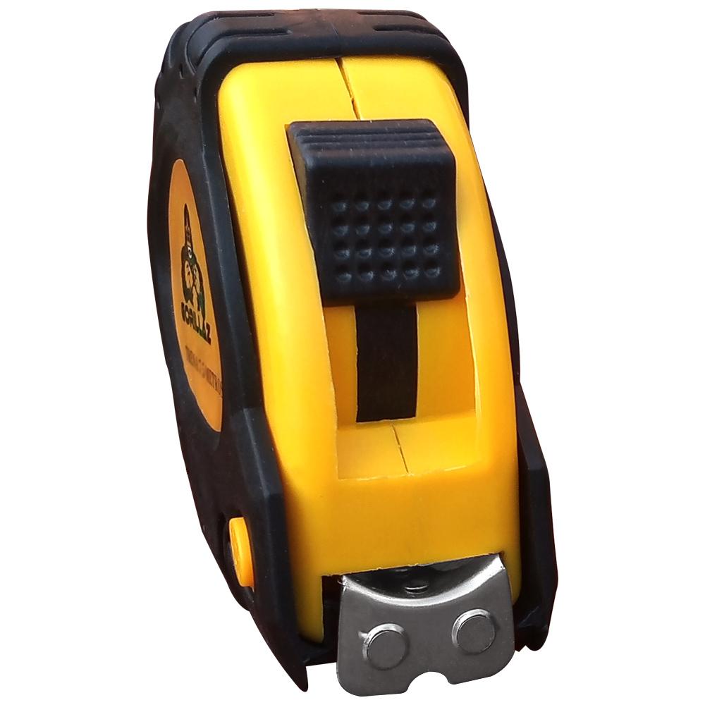 Trena Manual De Aço 7,5 Metros x 25mm Caixa Emborrachada Com Travas Com Ponta Magnética Imã  - EPM Acessórios