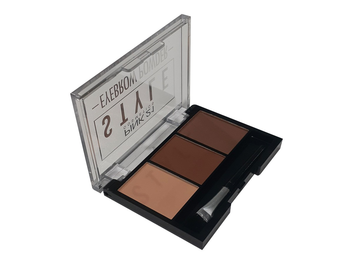 Paleta de Sombras Style Eyebrow Powder Trio Para Sobrancelhas Makeup CS2308  - EPM Acessórios