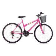 Bicicleta Free Action Donna Aro 26 Com Cesta Rosa Barbie - Status Bike