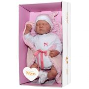 Boneca Bebê Reborn Olho Fechado Rosa 1266 - Baby Brink