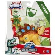 Boneco Jurassic World Humano E Dino Stegosaurus B0531