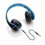 Fone De Ouvido Multilaser Com Microfone Para Celular Preto E Azul P2 - Ph113