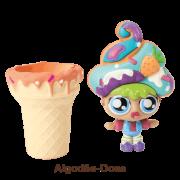 Mini Boneca 13 Cm Gelateenz com Cheirinho Sorvete Torta de Algodão Doce 5106 - DTC