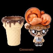 Mini Boneca 13 Cm Gelateenz com Cheirinho Sorvete Torta de Caramelo 5106 - DTC
