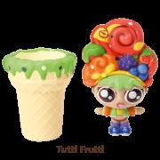 Mini Boneca 13 Cm Gelateenz com Cheirinho Sorvete Torta de Tutti Frutti 5106 - DTC