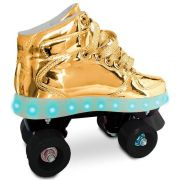 Patins Com Led 4 Rodas Dourado 35/36 83105 - Fun