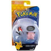 Pokémon Figura de Ação Pikipek Vs Clefairy 1947 - Sunny