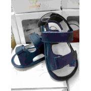 Sandalia Lisa Sintetico Azul Marinho Nº17