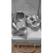 Sapato Laco Quadrados/strass Em Sintetico Nº16