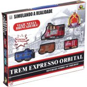 Trem Expresso Com Trilho Orbital Na93657w Art Brink