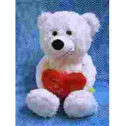 Urso Sorriso C/coracao Te Amo Grande Branco