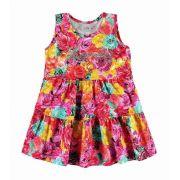 Vestido Floral Com Apliques Tam 3