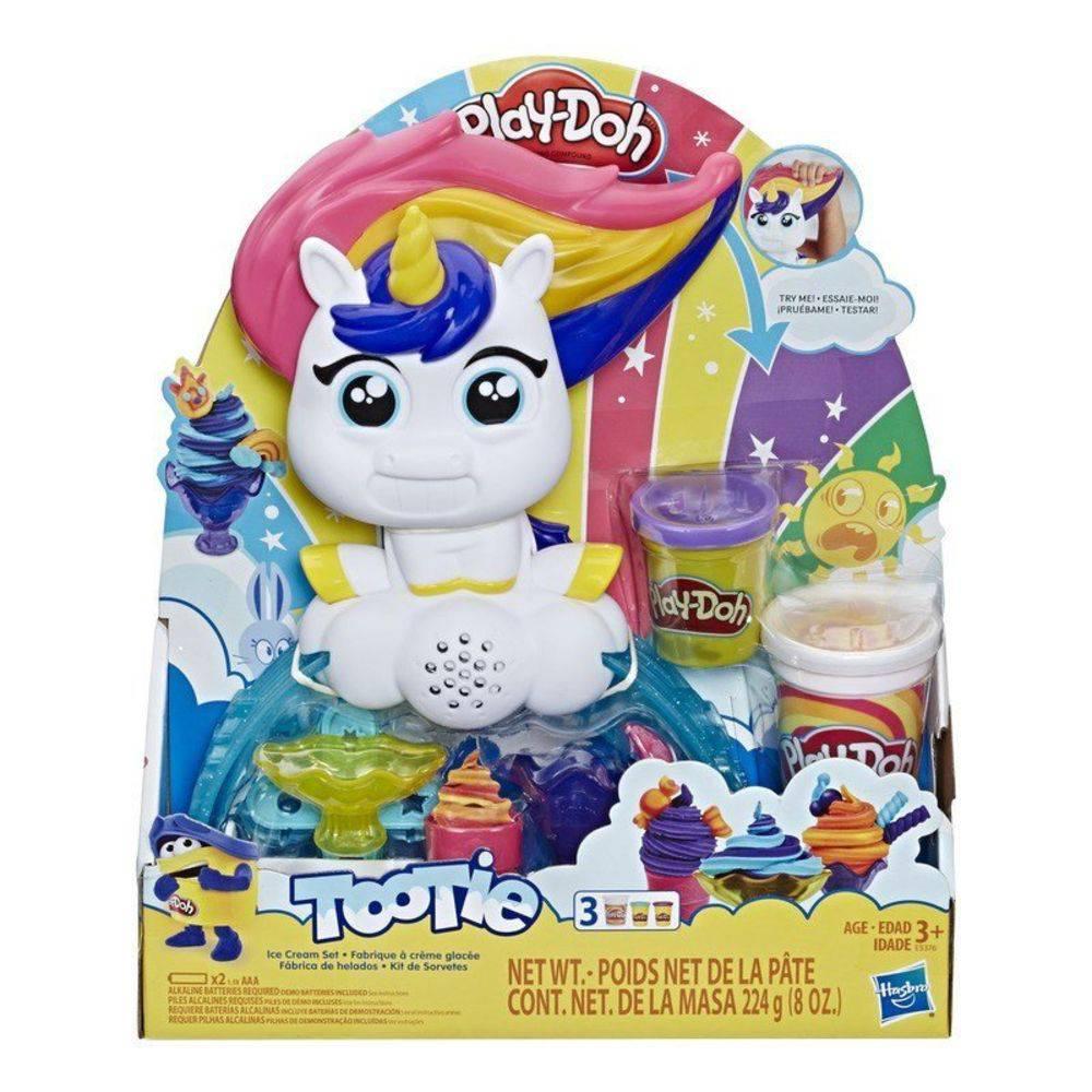 Play Doh Tootie Unicórnio Kit de Sorvetes E5376 - Hasbro