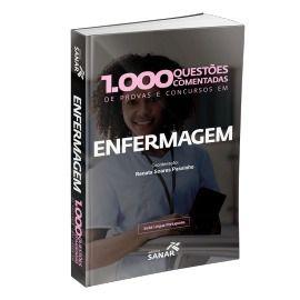 Livro 1.000 Questões Comentadas De Provas, Concursos Em Enfermagem