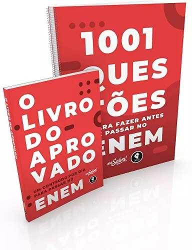Livro 1001 Questões Para No Enem + O Livro Do Aprovado No Concurso
