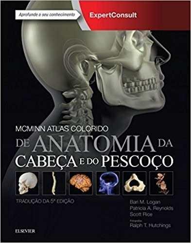 Livro Mcminn Atlas Colorido De Anatomia Da Cabeça E Pescoço